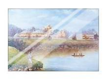 Brisbane from the South 1883 art print poster with laminate