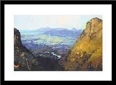Barron Gorge Kuranda art print poster with simple frame