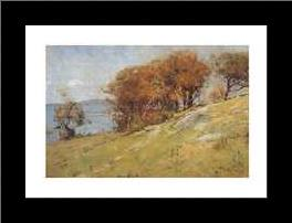 Cremorne Pastoral art print poster with simple frame