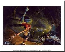 B-Girl art print poster with block mounting