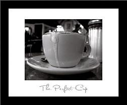 Perfect Cup art print poster with simple frame