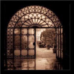 Courtyard In Venezia art print poster with simple frame