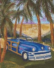 Bahamarama Ll art print poster transferred to canvas