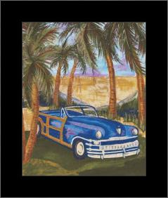 Bahamarama Ll art print poster with simple frame