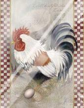 Coat Of Many Colors Rooster art print poster with laminate