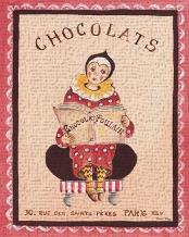 Chocolats art print poster transferred to canvas