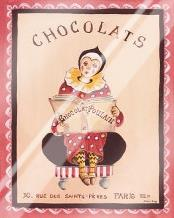 Chocolats art print poster with laminate