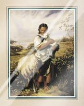 Tending The Sheep art print poster with laminate
