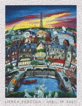 April In Paris art print poster transferred to canvas