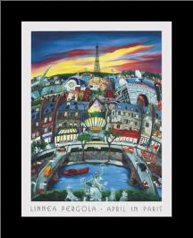 April In Paris art print poster with simple frame