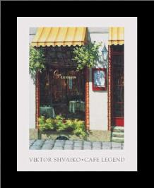 Cafe Legend art print poster with simple frame