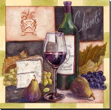 Chianti art print poster with block mounting
