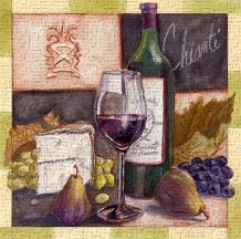 Chianti art print poster transferred to canvas