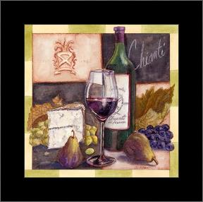 Chianti art print poster with simple frame
