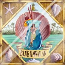 Blue Hawaiian art print poster with laminate