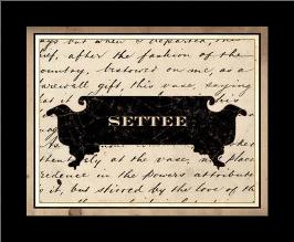 Settee art print poster with simple frame