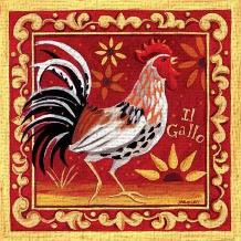 Il Gallo I art print poster transferred to canvas