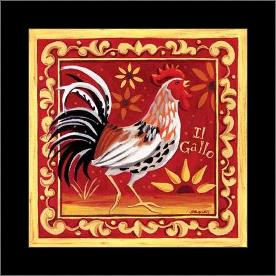 Il Gallo I art print poster with simple frame
