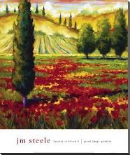 Tuscany In Bloom II art print poster with block mounting
