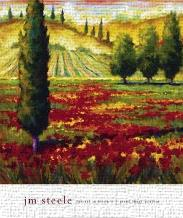 Tuscany In Bloom II art print poster transferred to canvas
