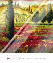Tuscany In Bloom II art print poster with laminate