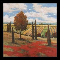 Chianti Country I art print poster with simple frame
