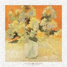 White Hydrangea Bouquet art print poster transferred to canvas
