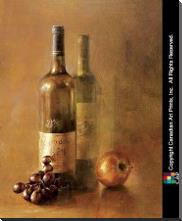 Sunset Wine I art print poster with block mounting