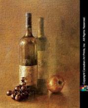 Sunset Wine I art print poster transferred to canvas