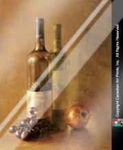 Sunset Wine I art print poster with laminate