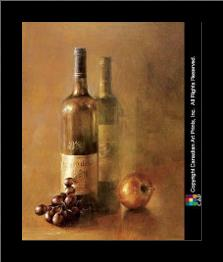 Sunset Wine I art print poster with simple frame