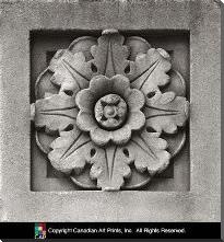Architectural Detail I art print poster with block mounting