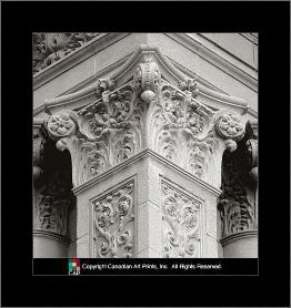 Architectural Detail IV art print poster with simple frame