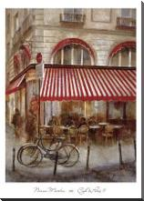 Cafe De Paris II art print poster with block mounting