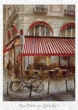 Cafe De Paris II art print poster transferred to canvas
