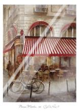 Cafe De Paris II art print poster with laminate