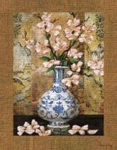 Ming Vase II art print poster transferred to canvas