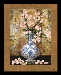 Ming Vase II art print poster with simple frame