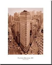 Flatiron Building, New York art print poster with block mounting