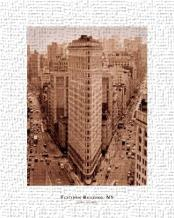 Flatiron Building, New York art print poster transferred to canvas