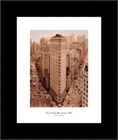 Flatiron Building, New York art print poster with simple frame