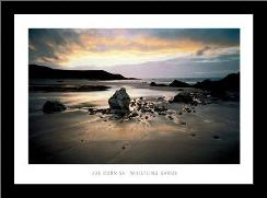 Whistling Sands, Gwynedd art print poster with simple frame