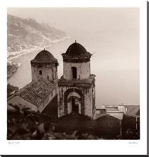 Ravello Vista art print poster with block mounting