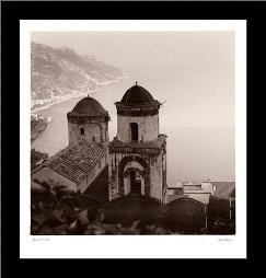 Ravello Vista art print poster with simple frame