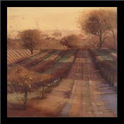 Vineyard Vista art print poster with simple frame