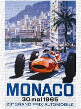 Grand Prix Monaco 30 Mai 1965 art print poster transferred to canvas