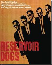 Reservoir Dogs - Five Strangers art print poster with block mounting