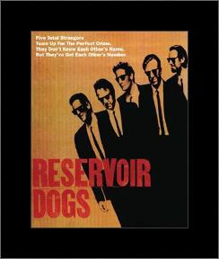 Reservoir Dogs - Five Strangers art print poster with simple frame