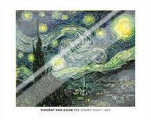 Van Gogh - Starry Night art print poster with laminate