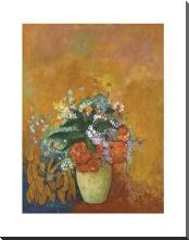 Vase Of Flowers, C1905 art print poster with block mounting